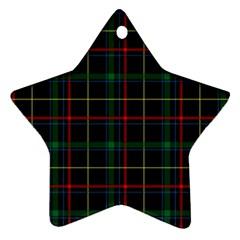 Tartan Plaid Pattern Star Ornament (two Sides)