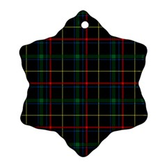 Tartan Plaid Pattern Ornament (snowflake)