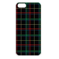 Tartan Plaid Pattern Apple iPhone 5 Seamless Case (White)