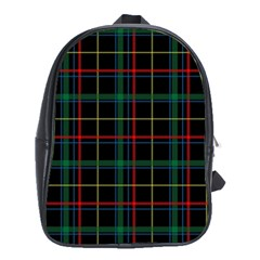 Tartan Plaid Pattern School Bags (xl)