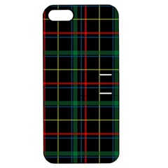 Tartan Plaid Pattern Apple Iphone 5 Hardshell Case With Stand