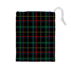Tartan Plaid Pattern Drawstring Pouches (large)