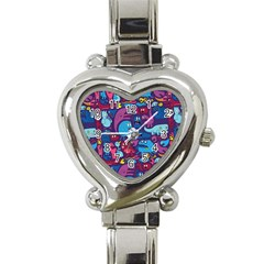 Hipster Pattern Animals And Tokyo Heart Italian Charm Watch