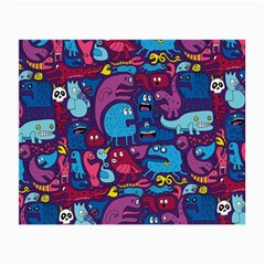 Hipster Pattern Animals And Tokyo Small Glasses Cloth