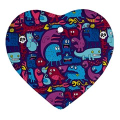 Hipster Pattern Animals And Tokyo Heart Ornament (two Sides)