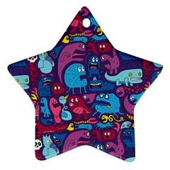 Hipster Pattern Animals And Tokyo Star Ornament (two Sides)