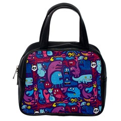 Hipster Pattern Animals And Tokyo Classic Handbags (One Side)