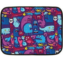 Hipster Pattern Animals And Tokyo Double Sided Fleece Blanket (Mini)