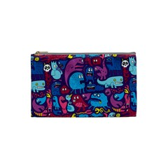 Hipster Pattern Animals And Tokyo Cosmetic Bag (Small)