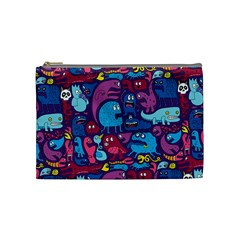 Hipster Pattern Animals And Tokyo Cosmetic Bag (Medium)