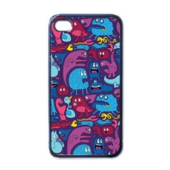 Hipster Pattern Animals And Tokyo Apple iPhone 4 Case (Black)