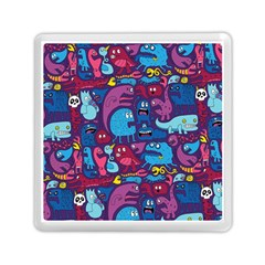 Hipster Pattern Animals And Tokyo Memory Card Reader (square)