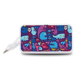 Hipster Pattern Animals And Tokyo Portable Speaker (White)