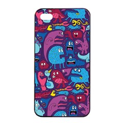 Hipster Pattern Animals And Tokyo Apple iPhone 4/4s Seamless Case (Black)