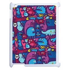 Hipster Pattern Animals And Tokyo Apple iPad 2 Case (White)