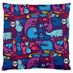 Hipster Pattern Animals And Tokyo Large Cushion Case (One Side)