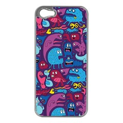 Hipster Pattern Animals And Tokyo Apple iPhone 5 Case (Silver)