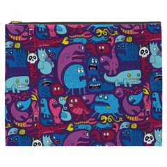 Hipster Pattern Animals And Tokyo Cosmetic Bag (xxxl)