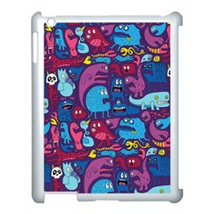 Hipster Pattern Animals And Tokyo Apple iPad 3/4 Case (White)