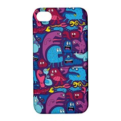 Hipster Pattern Animals And Tokyo Apple Iphone 4/4s Hardshell Case With Stand