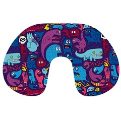 Hipster Pattern Animals And Tokyo Travel Neck Pillows