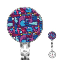 Hipster Pattern Animals And Tokyo Stainless Steel Nurses Watch