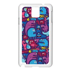 Hipster Pattern Animals And Tokyo Samsung Galaxy Note 3 N9005 Case (white)