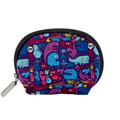 Hipster Pattern Animals And Tokyo Accessory Pouches (Small)