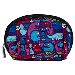 Hipster Pattern Animals And Tokyo Accessory Pouches (large)