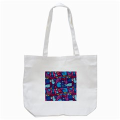 Hipster Pattern Animals And Tokyo Tote Bag (White)