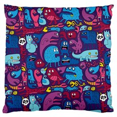 Hipster Pattern Animals And Tokyo Standard Flano Cushion Case (Two Sides)
