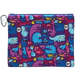 Hipster Pattern Animals And Tokyo Canvas Cosmetic Bag (xxxl)