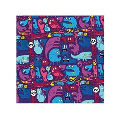 Hipster Pattern Animals And Tokyo Small Satin Scarf (square)