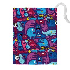 Hipster Pattern Animals And Tokyo Drawstring Pouches (xxl)