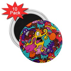 Monster Patterns 2.25  Magnets (10 pack)
