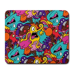 Monster Patterns Large Mousepads