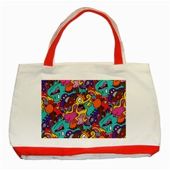 Monster Patterns Classic Tote Bag (Red)