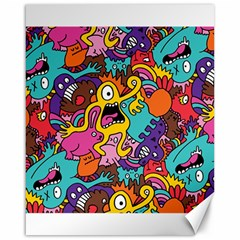 Monster Patterns Canvas 16  X 20