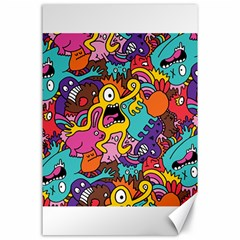 Monster Patterns Canvas 24  X 36
