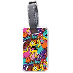 Monster Patterns Luggage Tags (One Side)