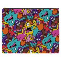 Monster Patterns Cosmetic Bag (xxxl)