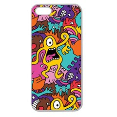 Monster Patterns Apple Seamless Iphone 5 Case (clear)