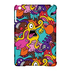 Monster Patterns Apple iPad Mini Hardshell Case (Compatible with Smart Cover)