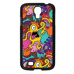 Monster Patterns Samsung Galaxy S4 I9500/ I9505 Case (black)