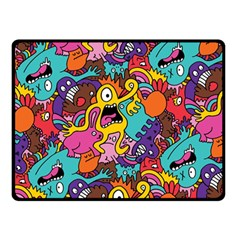 Monster Patterns Double Sided Fleece Blanket (small)