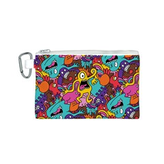 Monster Patterns Canvas Cosmetic Bag (S)