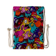Monster Patterns Drawstring Bag (small)