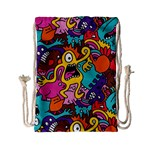 Monster Patterns Drawstring Bag (Small) Front