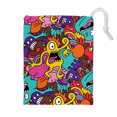 Monster Patterns Drawstring Pouches (extra Large)