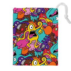 Monster Patterns Drawstring Pouches (XXL)